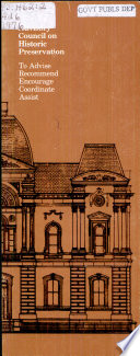 Advisory Council On Historic Preservation Book PDF