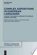 Complex Adpositions in European Languages