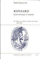 Ronsard : étude historique et littéraire