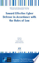 Toward Effective Cyber Defense in Accordance with the Rules of Law