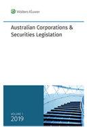 Cover of Australian Corporations and Securities Legislation 2019