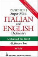 Pdf Zanichelli Super-Mini Italian and English Dictionary