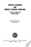 Parents Diagnose and Correct Reading Problems