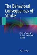 The Behavioral Consequences of Stroke Pdf/ePub eBook