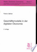 Geschäftsmodelle in der digitalen Ökonomie
