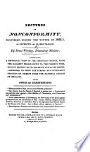 Lectures on Nonconformity  delivered during the Winter of 1822 3     With notes and illustrations Book