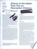 Effects of the Gates Park Fire on Recreation Choices