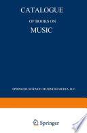 Catalogue of Books on Music