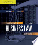 Cengage Advantage Books Fundamentals Of Business Law Excerpted Cases