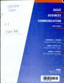 Basic Business Communication with Student Workbook Book PDF