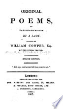 Original Poems On Various Occasions
