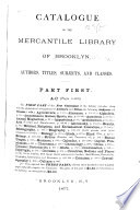 Catalogue of the Brooklyn Library