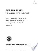 Tide Tables  High and Low Water Predictions  West Coast of North and South America  Including the Hawaiian Islands