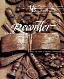 The Cambridge Companion to the Recorder