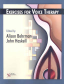 Cover of Exercises for Voice Therapy