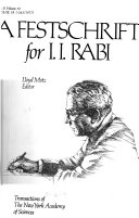 A Festschrift for I  I  Rabi