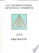 XVI International Botanical Congress, St. Louis, USA, August 1-7, 1999
