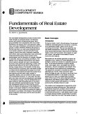Fundamentals of Real Estate Development