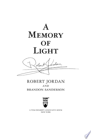 Download A Memory of Light Free Books - Dlebooks.net