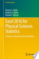 Excel 2016 for Physical Sciences Statistics Book