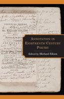 Annotation in Eighteenth-Century Poetry Pdf/ePub eBook