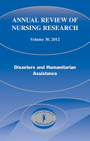 Annual Review of Nursing Research, Volume 30, 2012