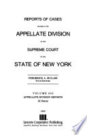 Reports of cases decided in the Appellate Division of the Supreme Court of the state of New York