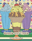 Large Print Adult Coloring Book of Sweets and Treats