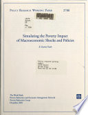 Simulating the Poverty Impact of Macroeconomic Shocks and Policies