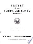 History Of The Federal Civil Service 1789 1939