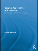 Corpus Approaches to Evaluation Pdf/ePub eBook