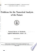 Problems for the Numerical Analysis of the Future