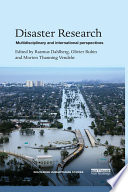 Disaster Research  : Multidisciplinary and International Perspectives