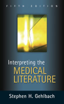Cover of Interpreting the Medical Literature: Fifth Edition