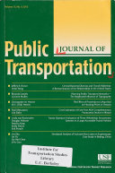 Journal of Public Transportation