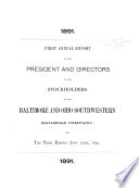 Annual Report For The Year Ending June 30 1891
