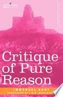 Critique of Pure Reason Book PDF