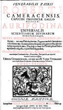 Aurifodina Universalis Scientiarum Divinarum Humanarumque