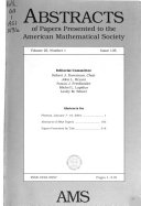 Abstracts of Papers Presented to the American Mathematical Society