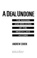 A Deal Undone Book