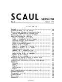 Scaul Newsletter