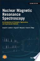 Nuclear Magnetic Resonance Spectroscopy Book