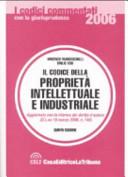 Il codice della proprietà intellettuale e industriale