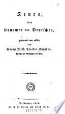 Teuto, oder Urnamen der Deutschen