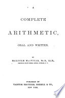 A Complete Arithmetic, Oral and Written