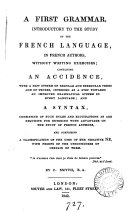 A first grammar, introductory to the study of the French language