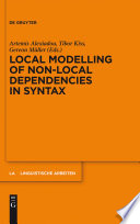 Local Modelling of Non Local Dependencies in Syntax