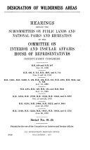 Designation of Wilderness Areas
