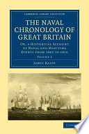 The Naval Chronology of Great Britain Book