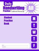 Daily Handwriting Practice Traditional Manuscript Individual Student Practice Book